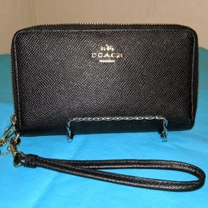 Coach Double Zip Wristlet Wallet Clutch Accessory